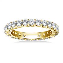Classic Prong Set Round Diamond Eternity Ring in 18K Yellow Gold (1.20 - 1.40 cttw.) | B2C Jewels