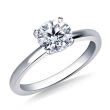 Classic Prong Setting Engagement Ring Mounting in 18K White Gold (1.8 mm) | B2C Jewels