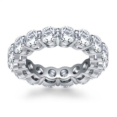 Classic Round Cut Diamond Eternity Ring in 18K White Gold (5.25 - 5.95 cttw.)