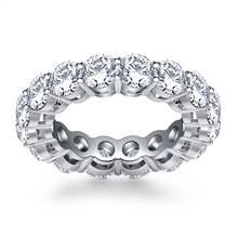 Classic Round Cut Diamond Eternity Ring in 18K White Gold (5.25 - 5.95 cttw.) | B2C Jewels