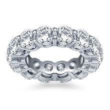 Classic Round Diamond Adorned Eternity Ring in 18K White Gold (5.85 - 6.75 cttw.) | B2C Jewels