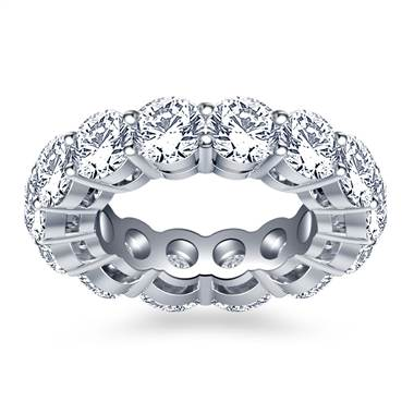 Classic Round Diamond Adorned Eternity Ring in 18K White Gold (5.85 - 6.75 cttw.)