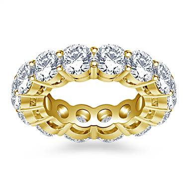Classic Round Diamond Adorned Eternity Ring in 18K Yellow Gold (5.85 - 6.75 cttw.)