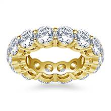 Classic Round Diamond Adorned Eternity Ring in 18K Yellow Gold (5.85 - 6.75 cttw.) | B2C Jewels