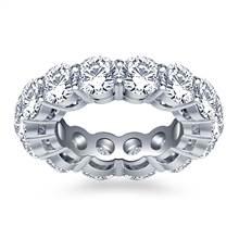 Classic Round Diamond Adorned Eternity Ring in Platinum (5.85 - 6.75 cttw.) | B2C Jewels