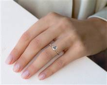 Classic Rounded Shank & Diamond Accented Engagement Ring in 14K Rose Gold 4mm Width Band (Setting Price) | James Allen