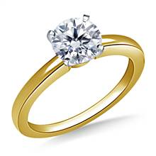 Classic Solitaire Diamond Engagement Ring in 14K Yellow Gold (1.6 mm) | B2C Jewels