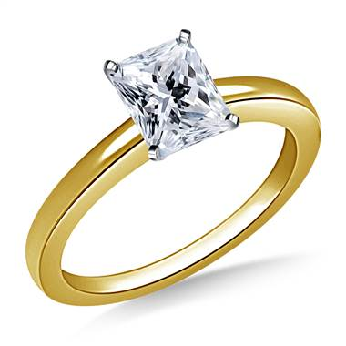 Classic Solitaire Diamond Engagement Ring in 18K Yellow Gold (1.6 mm)