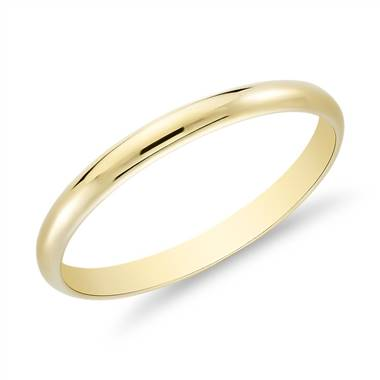"""Classic Wedding Ring in 14k Yellow Gold (2mm)"""