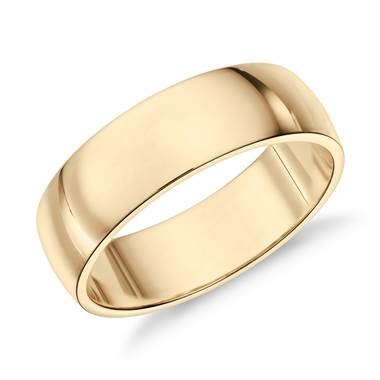 """Classic Wedding Ring in 14k Yellow Gold (6mm)"""