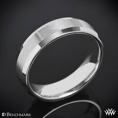 Cobalt Chrome Benchmark Mirror Edge Wedding Ring