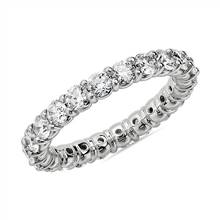 Comfort Fit Round Brilliant Diamond Eternity Ring in 14k White Gold (2 ct. tw.) | Blue Nile