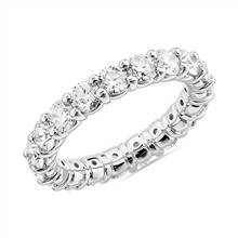 Comfort Fit Round Brilliant Diamond Eternity Ring in 14k White Gold (3 ct. tw.) | Blue Nile