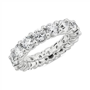 Comfort Fit Round Brilliant Diamond Eternity Ring in Platinum (5 ct. tw.)