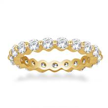 Common Prong Round Diamond Eternity Ring in 18K Yellow Gold (1.26 -1.47 cttw) | B2C Jewels
