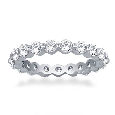 Common Prong Round Diamond Eternity Ring in Platinum (1.26 -1.47 cttw)