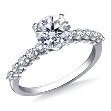 Common Prong Set Diamond Engagement Ring in 18K White Gold (1/3 cttw.) | B2C Jewels