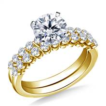 Common Prong Set Diamond Ring with Matching Band in 14K Yellow Gold (3/4 cttw.) | B2C Jewels