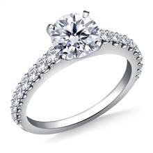 Common Prong Set Graduated Round Diamond Ring in Platinum(1/2 cttw) | B2C Jewels