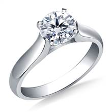 Contour Solitaire Diamond Engagement Ring in 18K White Gold (2.9 mm) | B2C Jewels