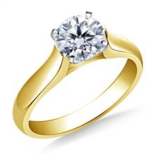 Contour Solitaire Diamond Engagement Ring in 18K Yellow Gold (2.9 mm) | B2C Jewels