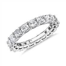 Cushion Cut Diamond Eternity Ring in Platinum (4.0 ct. tw.) | Blue Nile