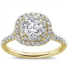 Cushion Double Halo Split Shank Diamond Ring | Adiamor