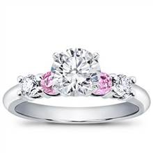 Diamond and Pink Sapphire Engagement Setting   Adiamor