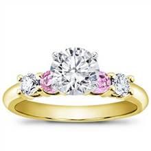 Diamond and Pink Sapphire Engagement Setting | Adiamor