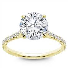 Diamond Eternity French Pave Engagement  Setting   Adiamor