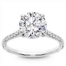 Diamond Eternity French Pave Engagement  Setting | Adiamor