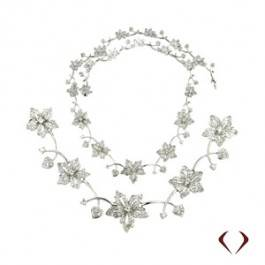 Diamond Flower Necklace All The Way Aroumd /IDJ10733