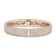 """Diamond Pave Bangle Bracelet in 18k Rose Gold (15 ct. tw.)"" | Blue Nile"