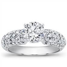 Diamond Pave Engagement Setting (0.75 CTTW) | Adiamor