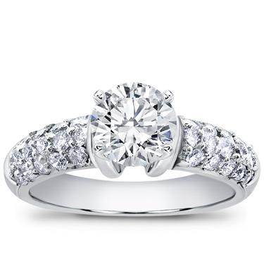 Diamond Pave Engagement Setting (0.80 CTTW)