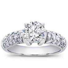 Diamond Pave Engagement Setting (0.80 CTTW) | Adiamor