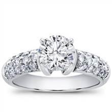 Diamond Pave Engagement Setting   Adiamor
