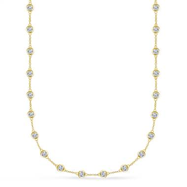 Diamond Station Necklace in 18K Yellow Gold (3.00 cttw.)
