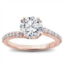 Diamond Swirl Engagement Setting | Adiamor