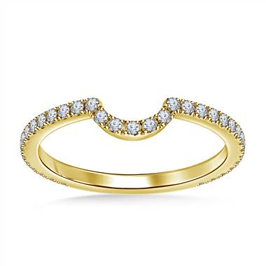 Diamond Wedding Band with Curve in 18K Yellow Gold (1/3 cttw.)
