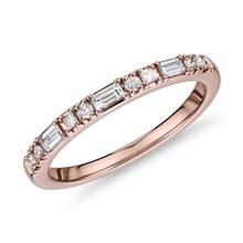 Dot Dash Diamond Ring in 14k Rose Gold (1/4 ct. tw.) | Blue Nile