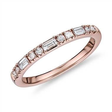"""Dot Dash Diamond Ring in 14k Rose Gold (1/4 ct. tw.)"""