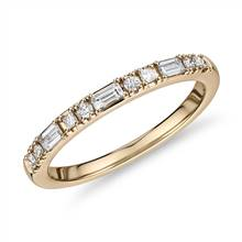 Dot Dash Diamond Ring in 14k Yellow Gold (1/4 cttw) | Blue Nile