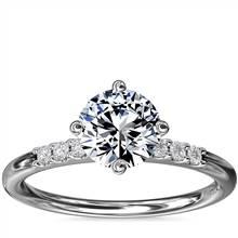 East-West Petite Diamond Engagement Ring in Platinum (1/10 ct. tw.)   Blue Nile