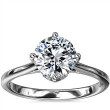 East-West Solitaire Plus Diamond Engagement Ring in Platinum | Blue Nile