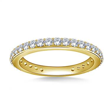Embellished Round Diamond Eternity Ring in 14K Yellow Gold (0.60 - 0.74 cttw.)
