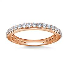 Embellished Round Diamond Eternity Ring in 18K Rose Gold (0.60 - 0.74 cttw.) | B2C Jewels