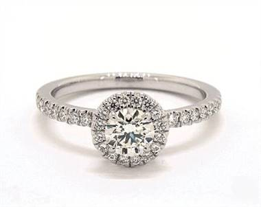 Embellished UnderGallery Halo .39ctw Engagement Ring in 14K White Gold 1.9mm Width Band (Setting Price)