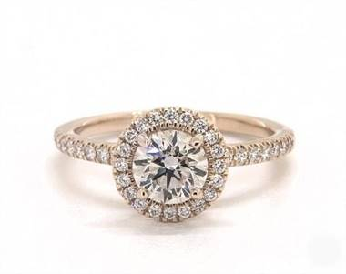 Embellished UnderGallery Halo .39ctw Engagement Ring in 14K Yellow Gold 1.9mm Width Band (Setting Price)