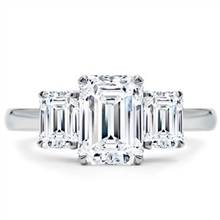 Emerald Cut 3 Stone Engagement Ring Setting | Adiamor